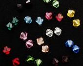 10 Swarovski 4mm Bicone Beads - YOU Pick the Colors
