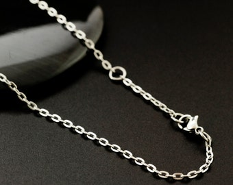 17 inch Stainless Steel 1.9mm Oval Cable Chain