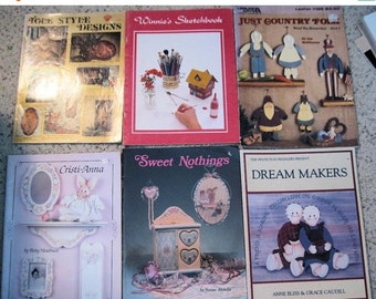 10% OFF SALE HOW To Tole Painting Pattern & Instruction Books Lot of 6 1974 - 1990