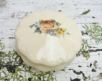 Vintage Handmade Trinket or Powder Dish