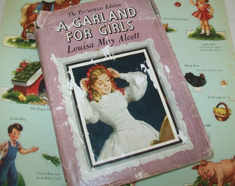 SALE - Louisa May Alcott, A Garland for Girls,  hardbound with book jacket