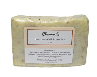 CHAMOMILE, Soap, Cold Process Soap, Vegan Soap, Natural Soap, CP Soap, Cocoa Butter, Soy-N-Suds, Homemade Soap, Scented Soap, Augusta WI