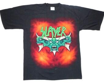 Slayer Vintage 90's Diabolus Concert T Shirt Heavy Metal Tour Cities L