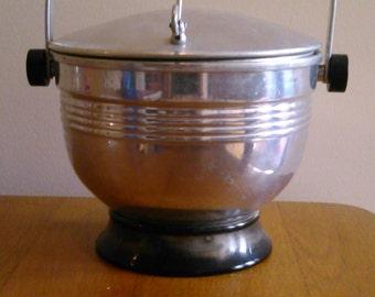 Aluminum Ice Bucket Midcentury 1950s
