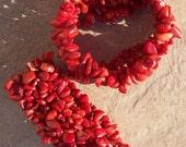 SALE REALLY RED Coral bracelet