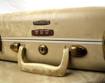 Vintage 1940s Samsonite Mini Suitcase Train Case