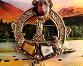 Antique Scottish Celtic Brooch Kilt Pin Gift Boxed