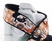 dSLR Camera Strap, Kitty, SLR, Mirrorless, Cats & Kittens, Canon, Nikon, Quick Release, Camera Neck Strap, Photography, Padded, 239