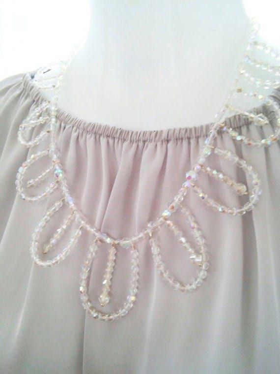 Crystal necklace, crystal statement necklace, bridal crystal necklace, wedding crystal necklace, crystal bib necklace