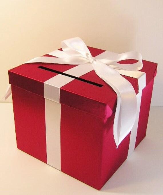 carte de mariage bo te rouge et blanc cadeau bo te argent. Black Bedroom Furniture Sets. Home Design Ideas