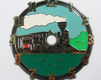 Train Clock Face Vintage Steam Engine Clock Face DIY Clock Face Locomotive Clock 4""