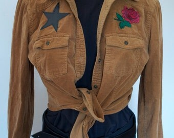 Star & Rose Patch Western Button Down Shirt