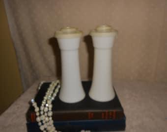 Tupperware Salt and Pepper Shakers White