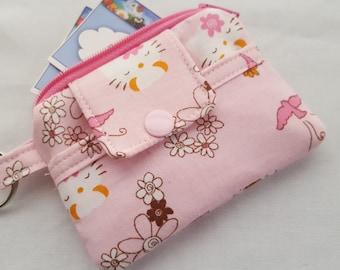 Zipper Mini Wallet Pouch Key Hello Kitty Card holder -