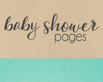 BABY SHOWER pages // baby book, baby gift, add on page, baby keepsake