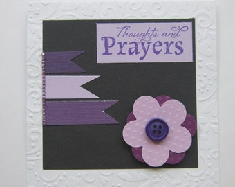 Thoughts & Prayers Embossed Card