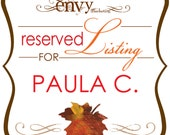 Leaf It Up To Me Autumn Wedding Invitation Sets... Reserved for Paula C.