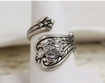 SALE Turtle Spoon Ring