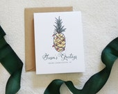 Value Pack Charleston Holiday Card, Pineapple Watercolor, Charleston Christmas Card Set, Holiday Cards, Modern Calligraphy, Home for Holiday