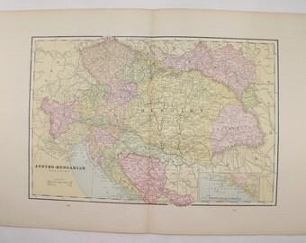 Vintage Map Austria Hungary Map, Ceylon Sri Lanka Map 1891 Antique Map, Pacific Ocean Island Map, Transylvania Map, Unique Gift for Traveler
