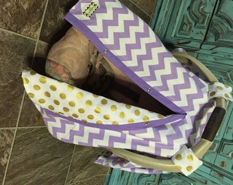 Carseat Canopy FREE SHIPPING Code Today Lavander And Gold Car Seat Cover