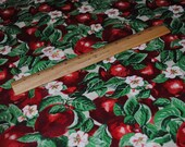 Apple Novelty Cotton Fabric--2  yds (2--one yard pieces)