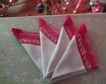 Nice red and white dinner napkins