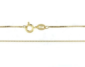 22 inch 14K GOLD Filled 1.2 mm Box Chain - Finished and READY To WEAR with Spring Clasp