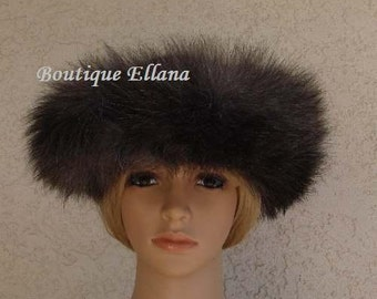 Ladies Wool Hat. With Real Fox Fur. Great GIFT.