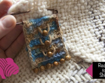 Miniature tapestry poncho pin