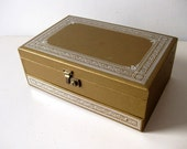 Vintage jewelry box unisex jewelry box Gold and silver jewelry box