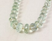 40 OFF SALE Faceted Green Amethyst Necklace – Beaded Necklace - AAA Grade