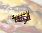 California Enamel Pin