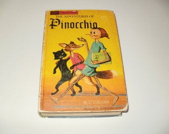 Vintage 1965 Companion Library Books Adventures of Pinocchio and King Arthur and his Knights by Howard Pyle and C. Collodi