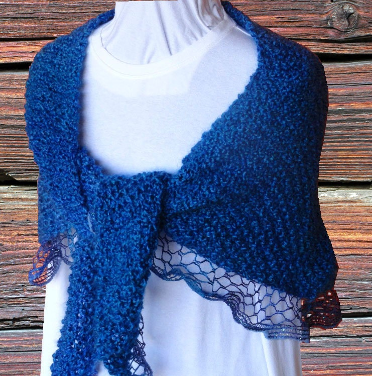 Prayer Shawl Patterns Knitting : Knit Prayer Shawl Pattern Pattern for Sashay Yarn Easy to