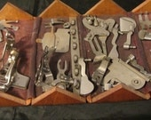 Vintage, Antique Sewing Box Filled with Pieces From Singer Sewing Machine, Gadgets, Pieces, Parts, Upcycle, Repurpose