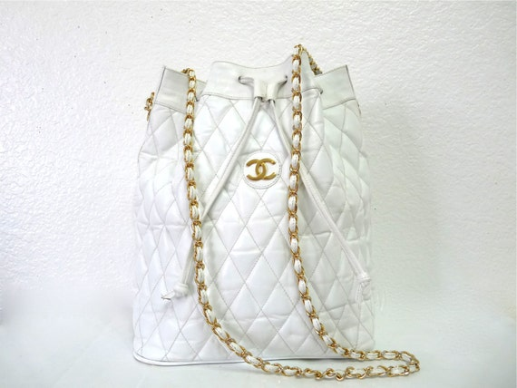 Chanel Quilted Drawstring Tote