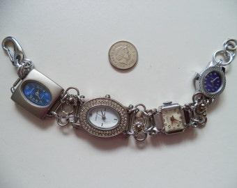 Vintage Watches Bracelet,Marcasite Watch Bracelet,Recycled Working Watch Bracelet,Upcycled Watches Bracelet,Ships Worldwide from UK