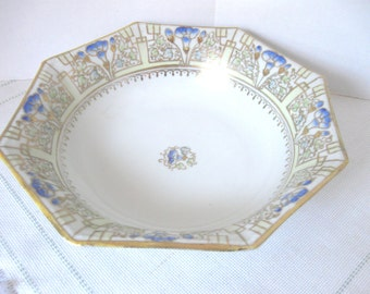 Nippon Hand Painted Octagonal Serving Bowl