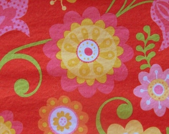 PRICE REDUCED - Red Floral 100% Cotton Fabric by Riley Blake Designs - 1/2 Yard or Fat Quarters                                       2016