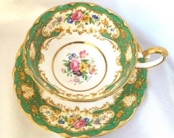Vintage Paragon England bone china Pompadour tea cup and saucer