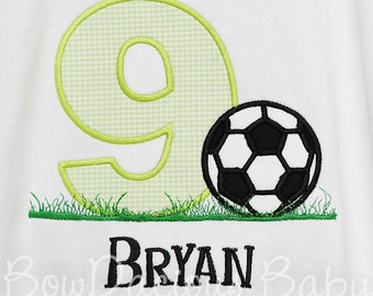 Boys' Soccer Birthday Shirt, Birthday Soccer Shirt, Boys or Girls, Any Age, Custom Made To Your Specifications, First Birthday, Second