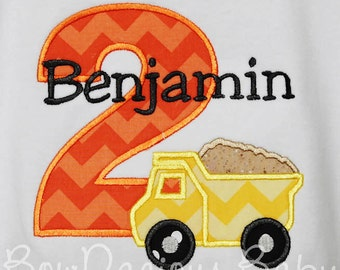 Boy's Dump Truck Birthday Shirt, Construction Birthday Shirt, Construction Dump Truck Birthday Shirt, Custom Construction Birthday Shirt
