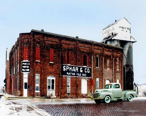Sphar Building Winchester Kentucky Giclee Print on Fine Art Paper or Canvas