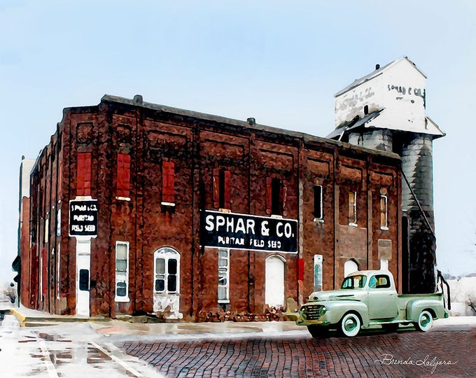 Kentucky, Sphar Building Winchester  Giclee Print on Fine Art Paper or Canvas