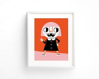 Peace Out - Giclee of an original illustration (8 x 10in)