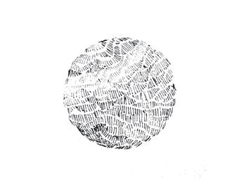 minimalist ink print: Planet II