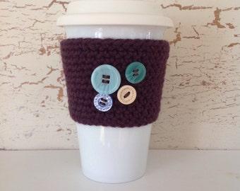Bandeau pour tasse à café tricoté réutilisable, respectueux de l'environnement