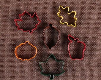Mini Fall Cookie Cutter Set, Thanksgiving Cookie Cutters, Acorn Cookie Cutters, Squirrel Cookie Cutters, Leaf Cookie Cutters, Pumpkin Cutter