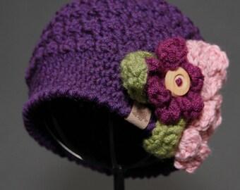 Crochet PATTERN Montgomery Beanie Crochet Hat Pattern Includes Sizes Newborn to Adult